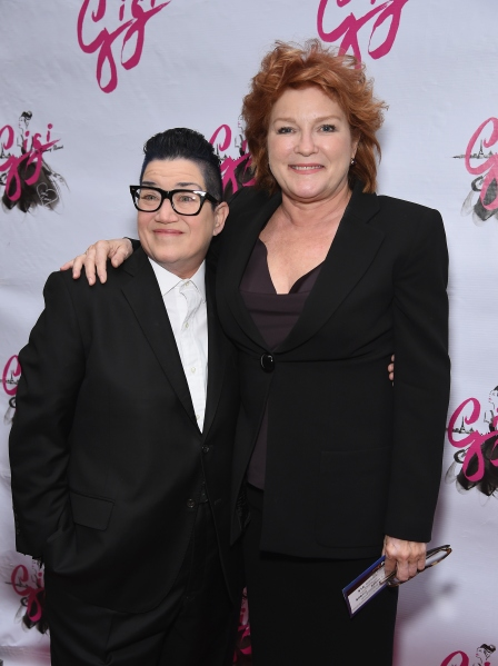 """NEW YORK, NY - APRIL 08:  (L-R) Actresses Lea DeLaria and Kate Mulgrew attend the """"Gigi"""" Broadway Opening Night at Neil Simon Theatre on April 8, 2015 in New York City.  (Photo by Dimitrios Kambouris/Getty Images)"""