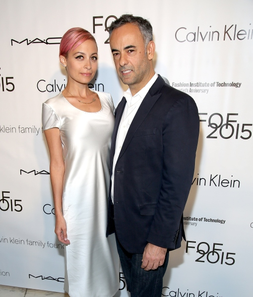 Nicole Richie, who hosted the event, poses with Calvin Klein Collection creative director Francisco Costa. (Photo: Getty)