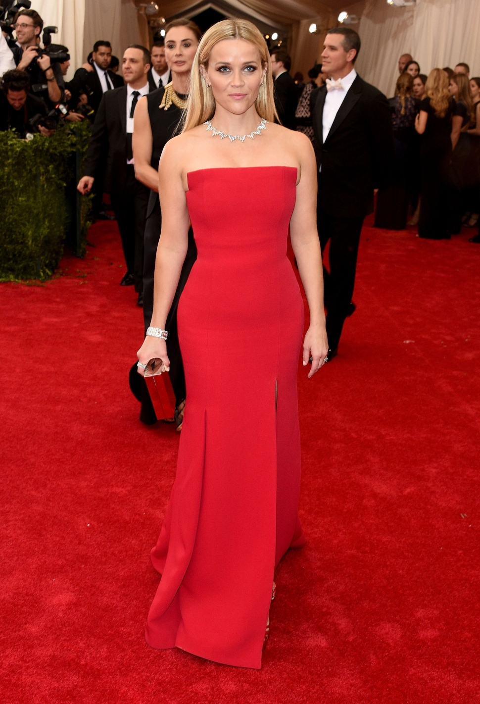 Reese Witherspoon in Givenchy and Tiffany diamonds. (Photo by Larry Busacca/Getty Images)