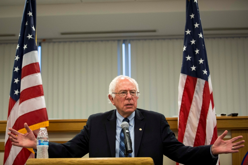 U.S. Sen. Bernie Sanders (I-VT) speaks at a town hall meeting at the International Brotherhood of Electrical Workers Local Union 26 office May 5, 2015 in Lanham, Maryland. (Photo: Drew Angerer/Getty Images)