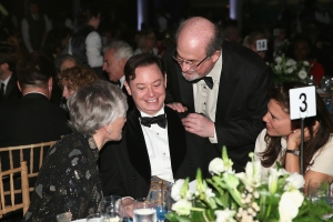 Glenn Close, Andrew Solomon President of the Board of Trustees of PEN American Center and Salman Rushdie. (Jemal Countess/Getty Images)