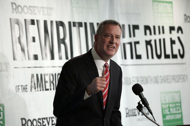 Mayor Bill de Blasio. (Photo: Win McNamee for Getty Images)