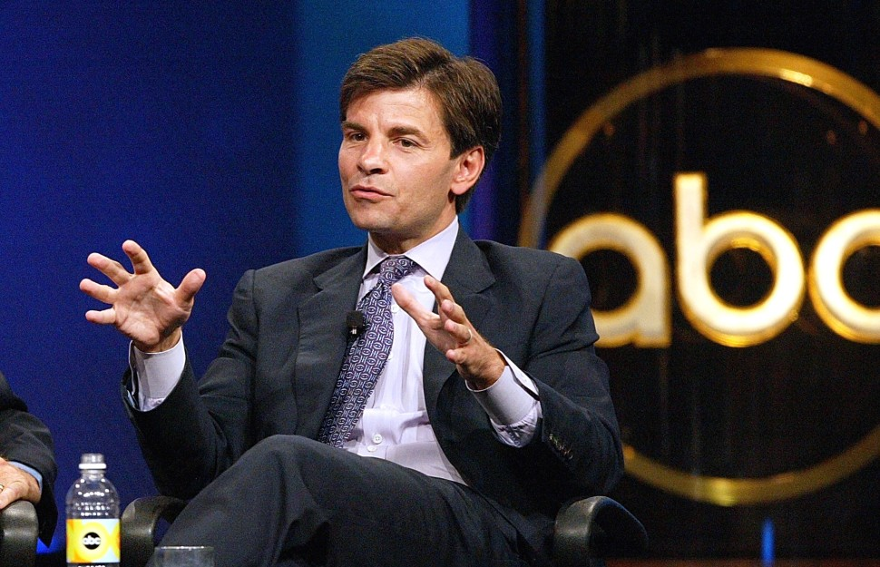 "Anchor of ""This Week,"" George Stephanopoulos, speaks with the press during day one of the ABC Summer TCA Press Tour at the Century Plaza Hotel on June 12, 2004 in Los Angeles, California.  (Photo: Frederick M. Brown/Getty Images)"