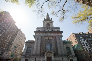 The Church of Christ at 361 Central Park West. Photo by Aaron Adler for The Commercial Observer