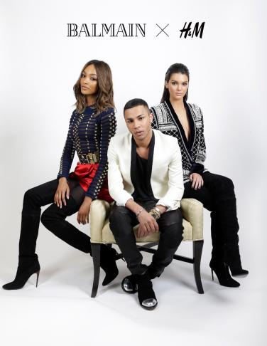 H&M is launching a collaboration with Kardashian-Jenner favorite Balmain. (Photo: Balmain/H&M)