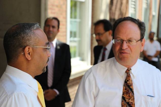 Barry Grodenchik (right) with State Senator Jose Peralta. (Photo: Facebook)