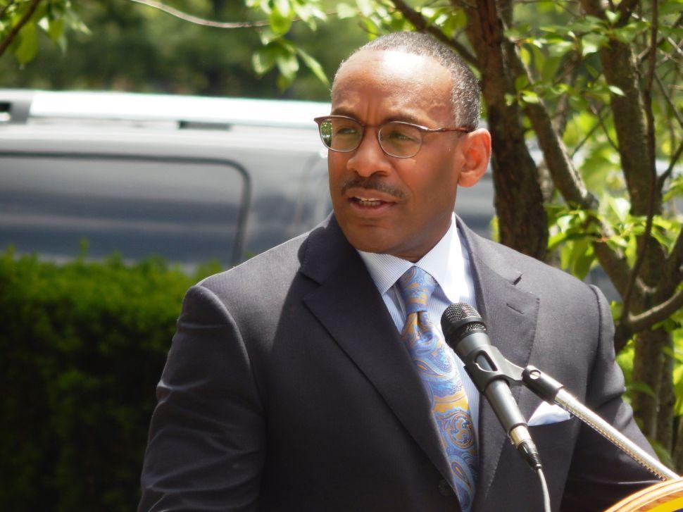Essex County Democratic Chairman Leroy Jones: not in intimidator mode in this crisis.