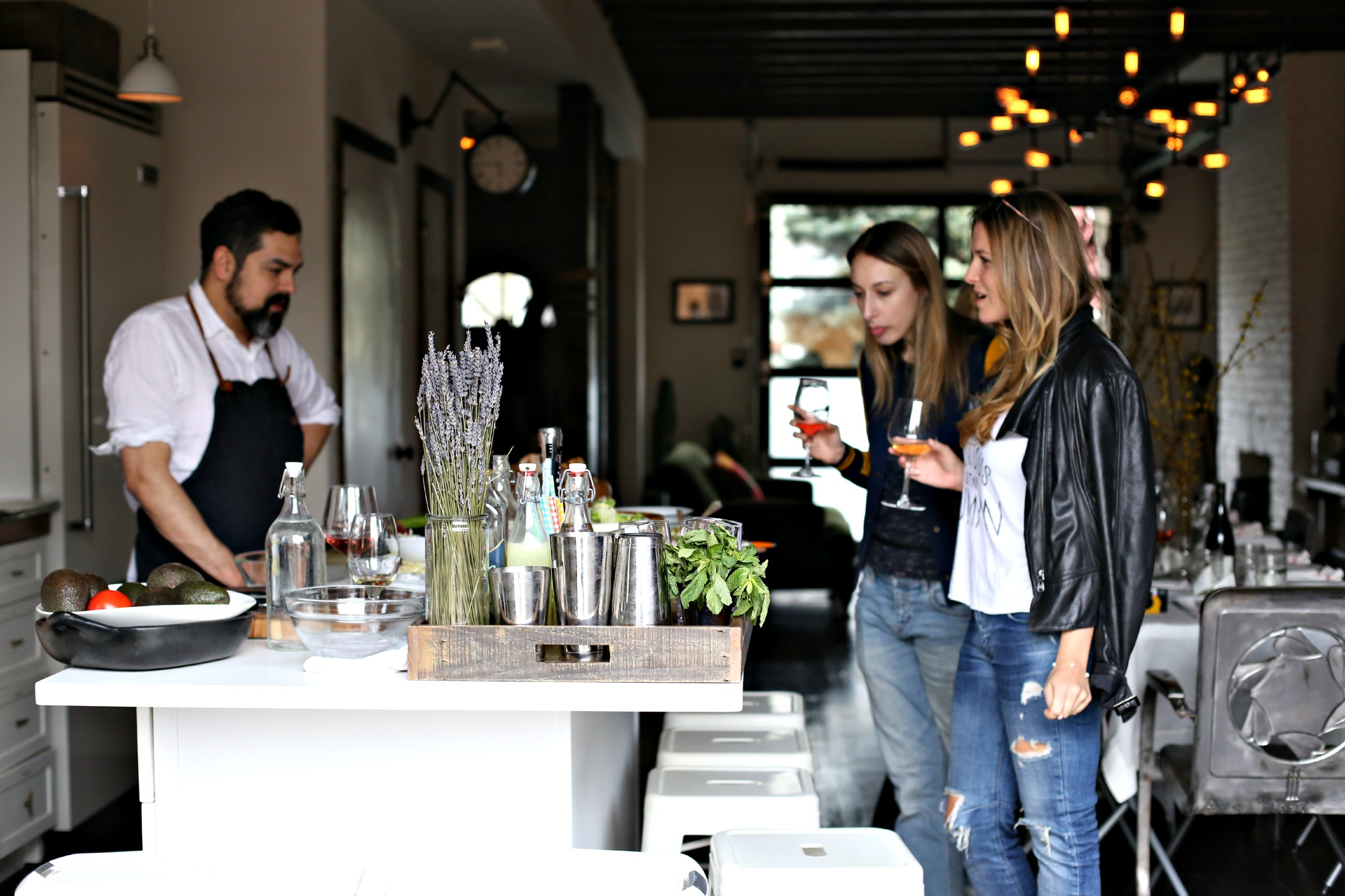 Mr. Sharp and guests admiring three kinds of ceviche. (Photo: Courtesy Folk Rebellion).