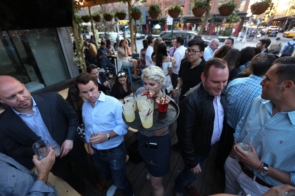 NEW YORK, NY - MAY 07:  Guests attend the Grand Opening of The Chester Biergarten on May 7, 2015 in New York City.  (Photo by Rob Kim/WireImage)