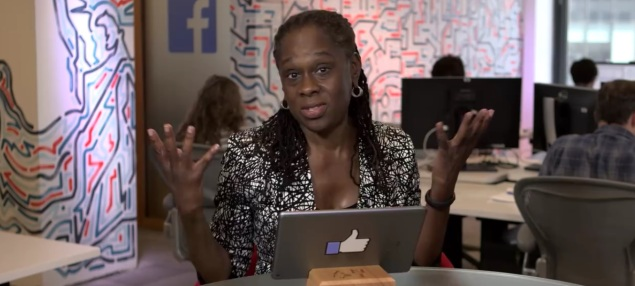 Chirlane McCray taking questions on Facebook. (Screengrab: Facebook)