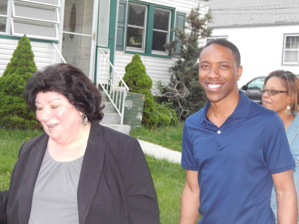 Assemblyman Jamel Holley (D-20) and Roselle Christine Dansereau.