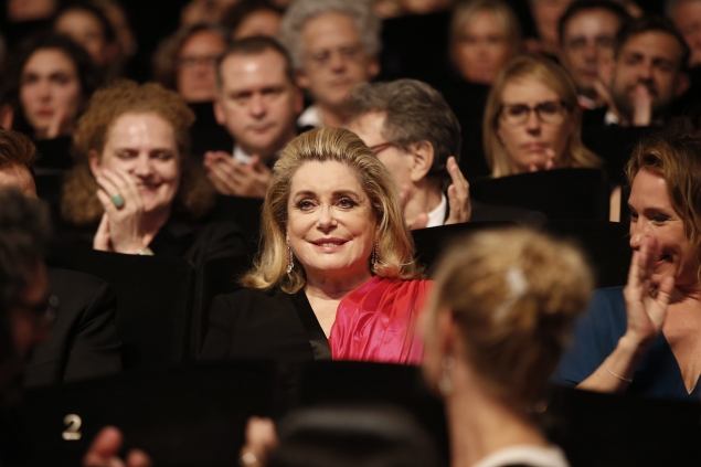 French actress Catherine Deneuve attends the opening ceremony of the Cannes Film Festival in southeastern France. (Photo: Getty Images)