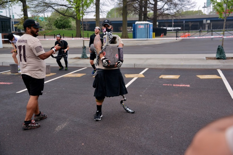 """Some 5000 participants took part in the Reebok Spartan Sprint at Citi Field to benefit Oscar Mike (""""On the Move""""). Aaron Matthews, who took all these photos, is himself a wounded warrior."""