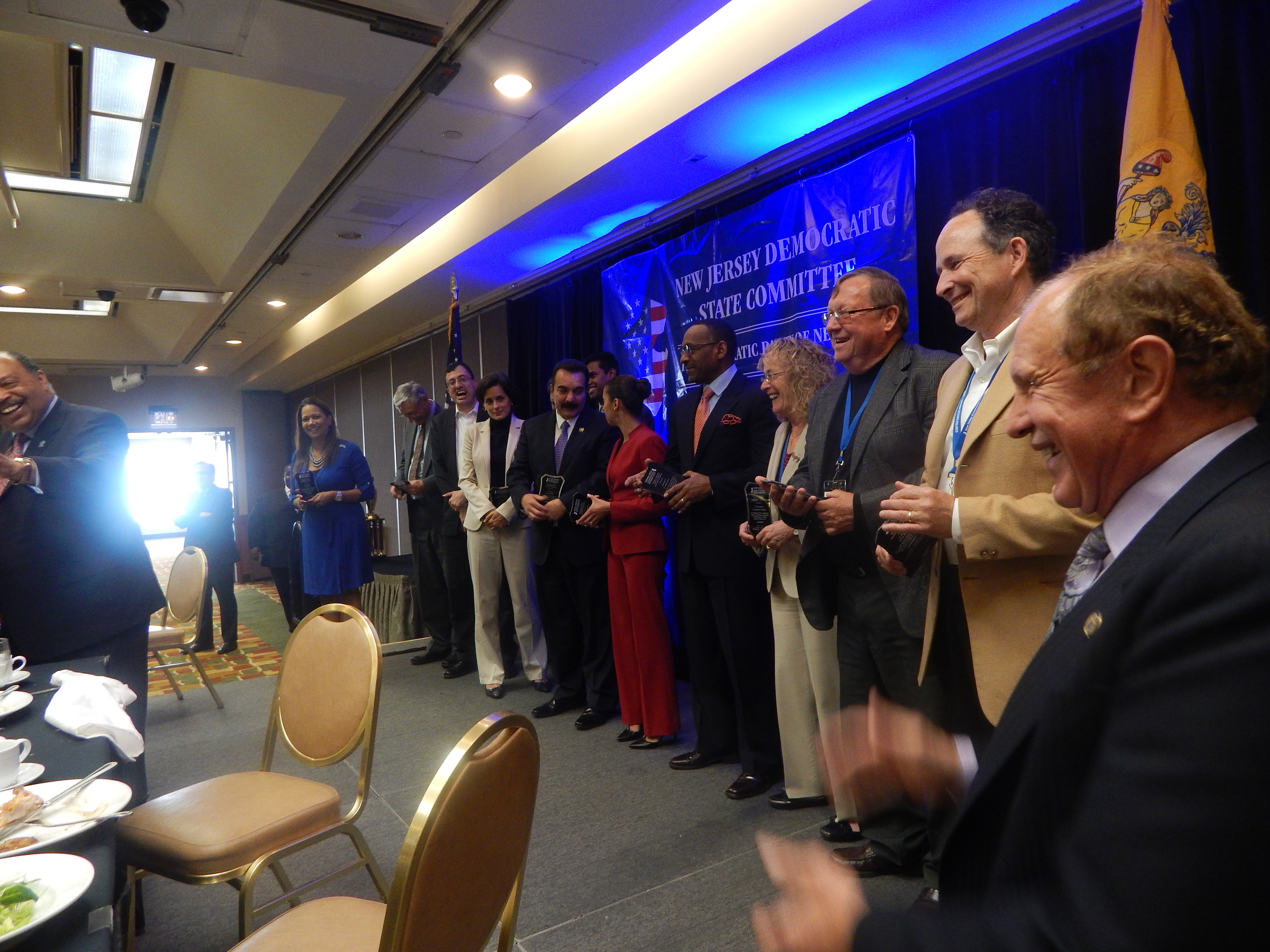 County chairs are honored at Friday's luncheon.