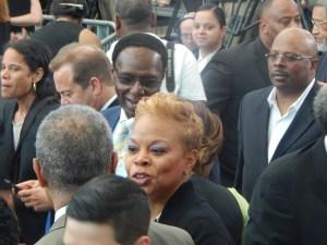 Camden Mayor Dana Red and Assemblyman Whip Wilson.
