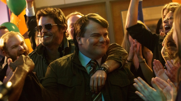 James Marsden, left, and Jack Black in The D Train.
