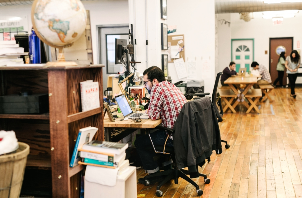 Inside Etsy's office in Dumbo (Image courtesy of Etsy)