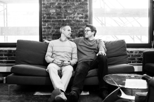 Gimlet Media co-founders Alex Blumberg (left) and Matthew Lieber (right). Photo by Emily Assiran/New York Observer