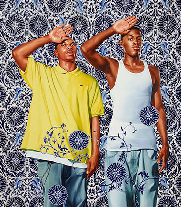 Kehinde Wiley, Two Heroic Sisters of the Grassland, (2011). (Photo: © Kehinde Wiley, photo by Max Yawney)