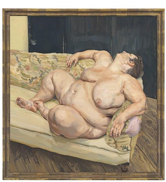 Lucian Freud's Benefits Supervisor Resting (1994). (Christie's Images LTD. 2015)