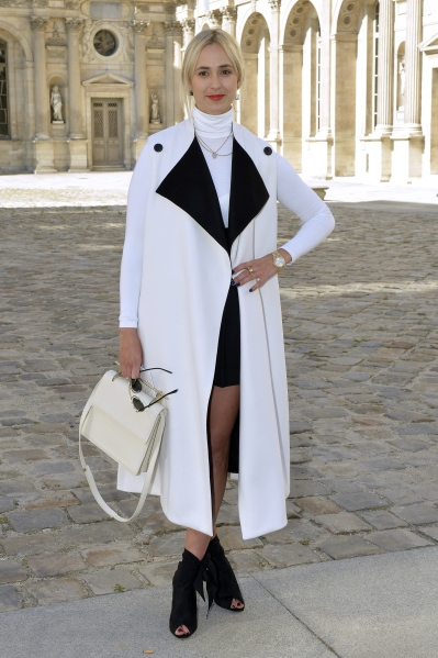 Germany's Princess Elisabeth von Thurn und Taxis poses during a photocall prior to the Christian Dior 2015 Spring/Summer ready-to-wear collection fashion show, on September 26, 2014 in Paris. AFP PHOTO / MIGUEL MEDINA        (Photo credit should read MIGUEL MEDINA/AFP/Getty Images)