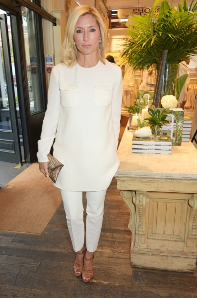 """LONDON, ENGLAND - APRIL 28:  Marie Chantal, Crown Princess of Greece, attends the book launch party for """"India Hicks: Island Style"""" at Ralph Lauren Fulham Road on April 28, 2015 in London, England.  (Photo by David M. Benett/Getty Images)"""