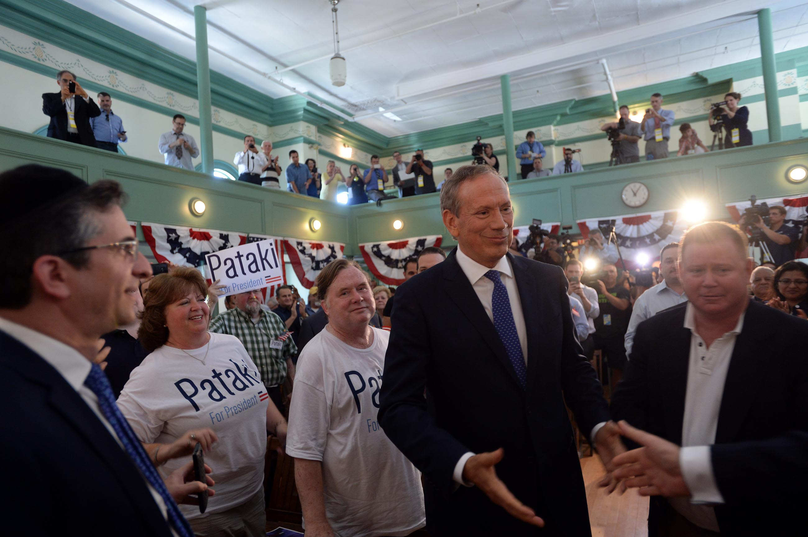 Former New York Gov. George Pataki launching his presidential bid today. (Photo by Darren McCollester/Getty Images)