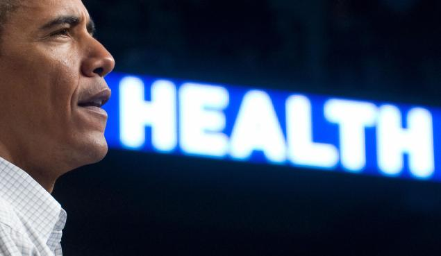 US President Barack Obama speaks about healthcare reform. (AFP PHOTO / Saul LOEB)