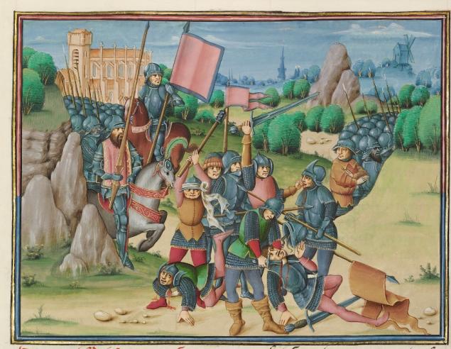 The Battle of Aljubarrota, about 1480 - 1483, Master of the Soane Josephus. (Photo: J. Paul Getty Museum)