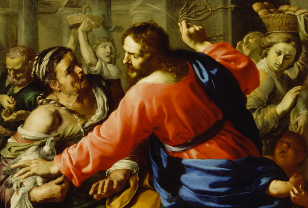 Christ Cleansing the Temple, about 1605 - 1676, Bernardino Mei. Oil on canvas. (Photo: J. Paul Getty Museum)