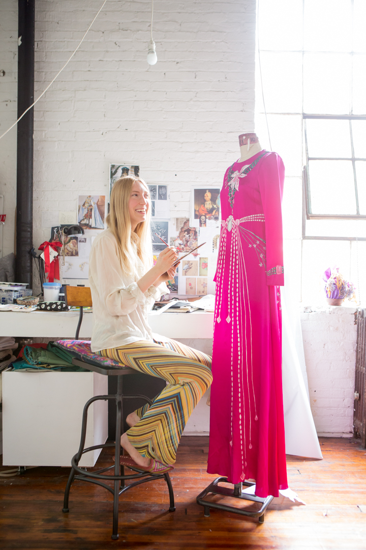 Holly Fowler in her Greenpoint studio