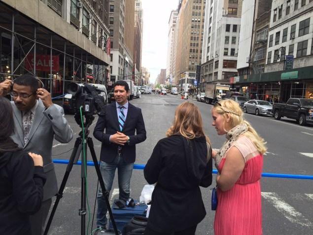 Press near the scene (Photo: New York Observer).