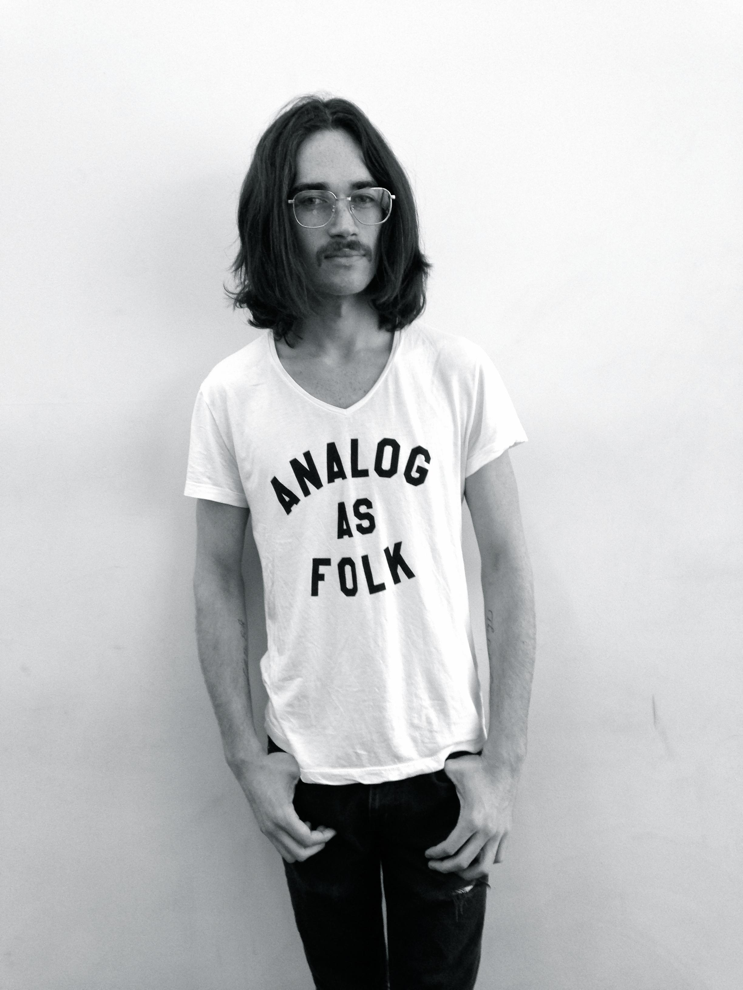"""Folk Rebellion's """"Analog As Folk"""" T-shirt. (Photo: Courtesy Folk Rebellion)."""