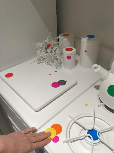We threw down some dots in the kitchen. (Photo: Alanna Martinez)