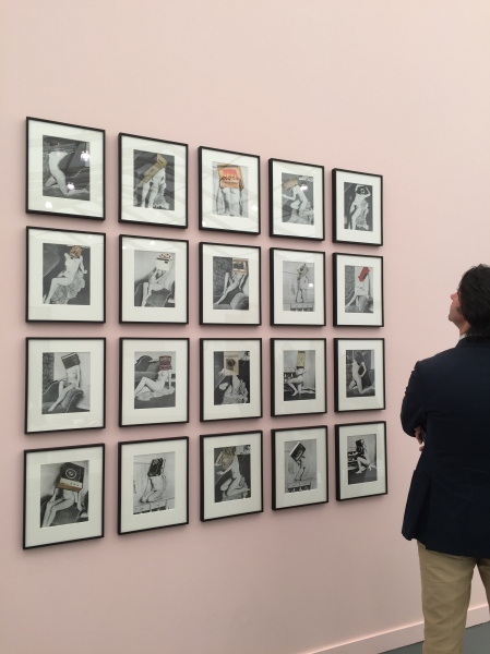 Early photo collages by Linder at Stuart Shave/Modern Art. (Photo: Alanna Martinez)