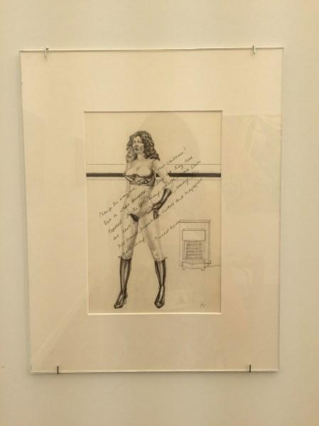 Margaret Harrison, Woman and Roses (1971). (Photo: Alanna Martinez)