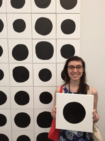 The author and her dot painting. (Photo: Alanna Martinez)