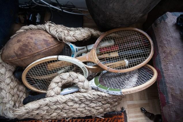 Vintage sports equipment. (Photo: Emily Assiran/New York Observer)