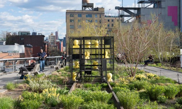 Rashid Johnson, Blocks, on view on the High Line through March 2016. (Photo: art.thehighline.org)
