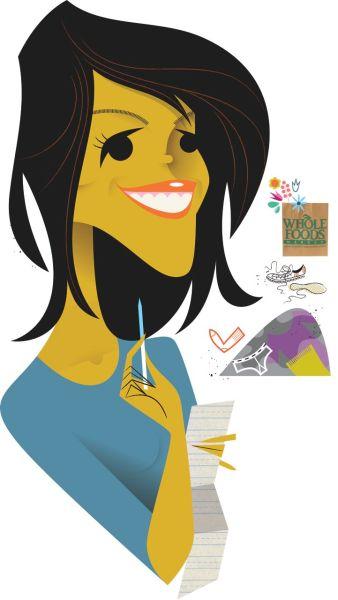 Illustration of Veronica Webb by Kirsten Ulve.