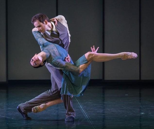 Oleg Gabyshev and Lyubov Andreyeva in Up & Down. (Photo: Souheil Michael Khoury)