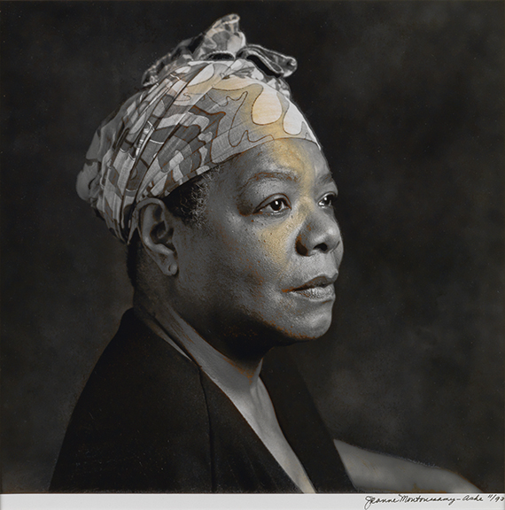 Jean Moutoussamy-Ashe, Maya Angelou, (1993). Estimate $1,000 to $1,500. (Photo: courtesy Swann Auction Galleries)