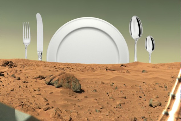"""The Menu for Mars Kitchen,"" by Douglas Paulson and Heidi Neilson, opens at the Boiler Friday. (Photo: The Boiler)"