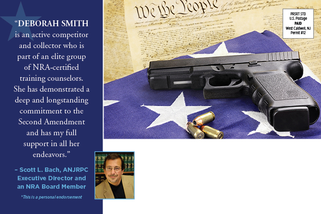 Late mail for the Krickus-Scapicchio-Smith ticket highlights Denville Councilwoman Deb Smith's 2nd Amendment street cred.