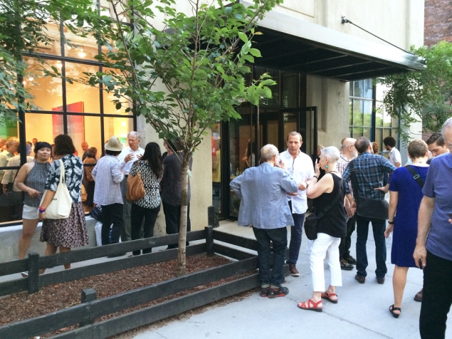 The crowd outside the opening reception for Robert Swain at Minus Space. (Courtesy Minus Space, Brooklyn)