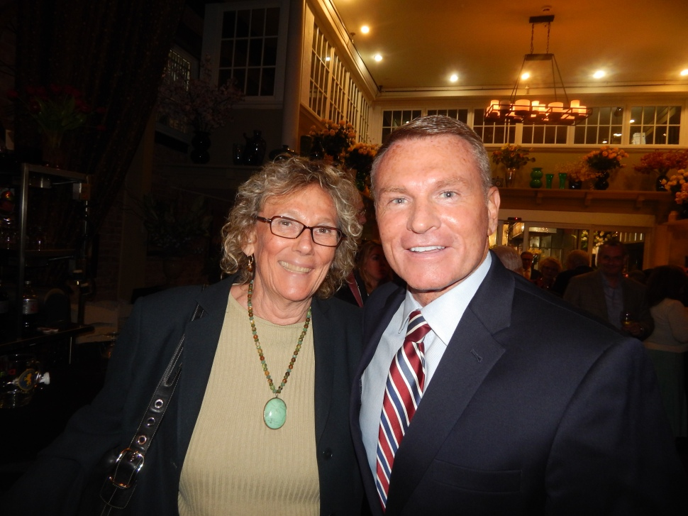 Essex County Freeholder Pat Sebold, with Essex County Clerk Chris Durkin.