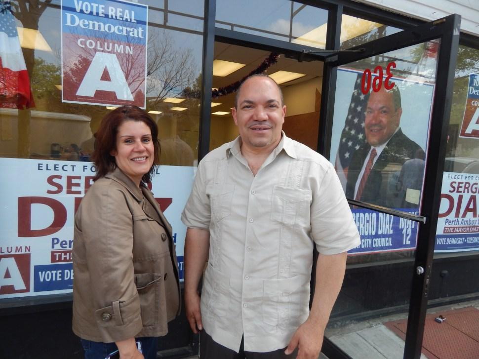 Mayor Wilda Diaz and her ally, Sergio Diaz.