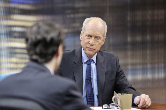 "Michael Aron during an episode of ""Reporters Roundtable."""