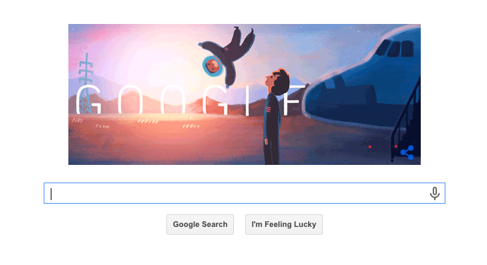 Google's front page on May 26, 2015. (Screenshot: Brady Dale)