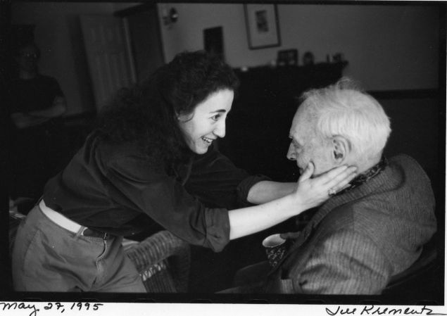 Saul Bellow and his wife Janis photographed by Jill Krementz on May 27, 1995 in Brattleboro, Vermont.  Janis Bellow will be on stage at the 92nd Street Y on Wednesday evening celebrating the centennial of her late husband.